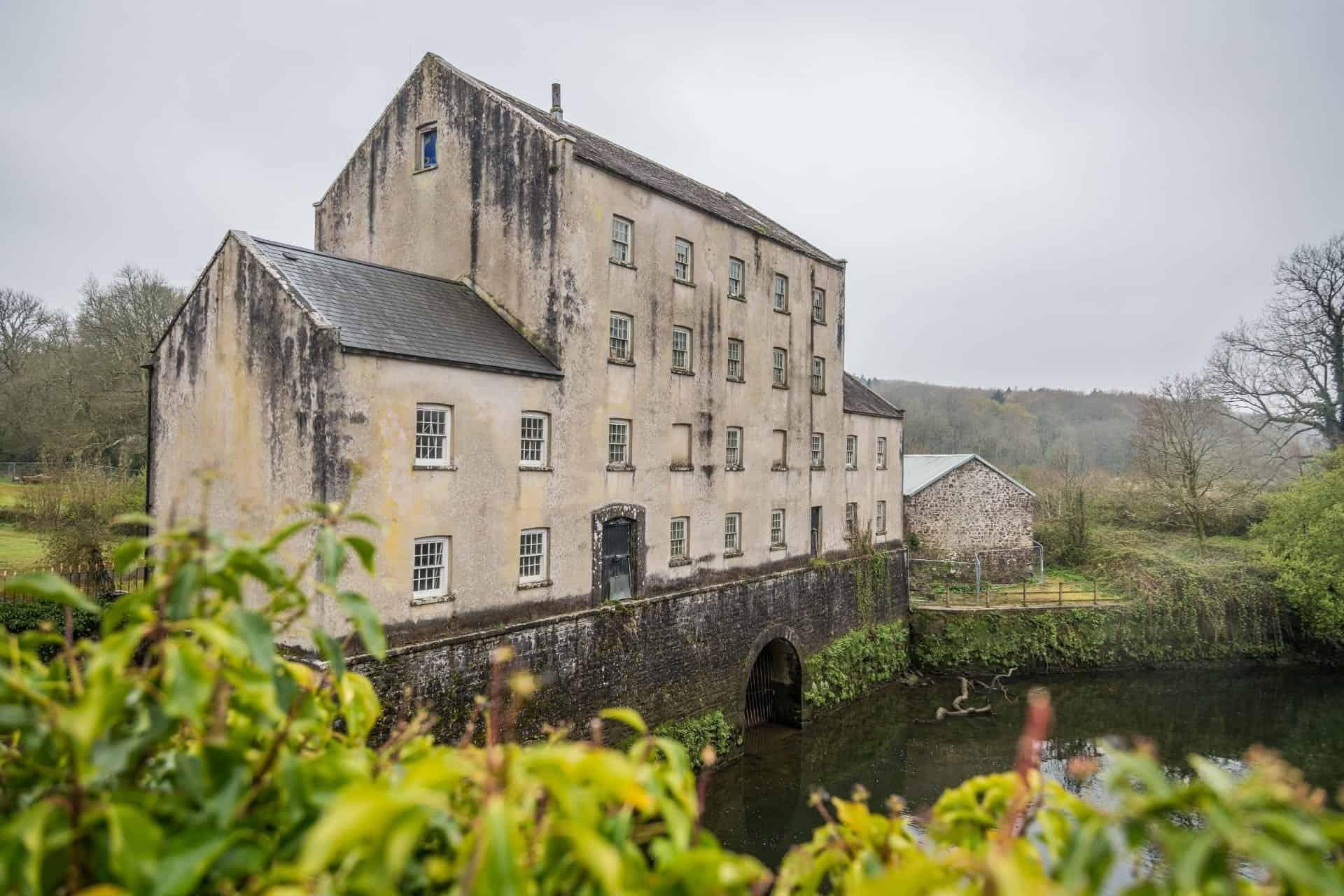 Building on a bridge in Wales