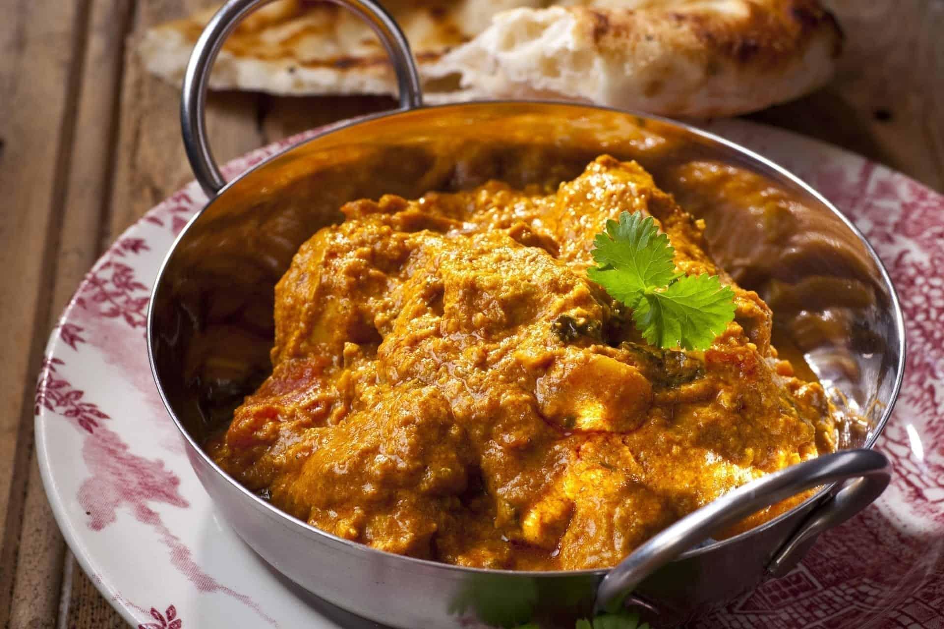 Indian Restaurant Dish in Cardiff