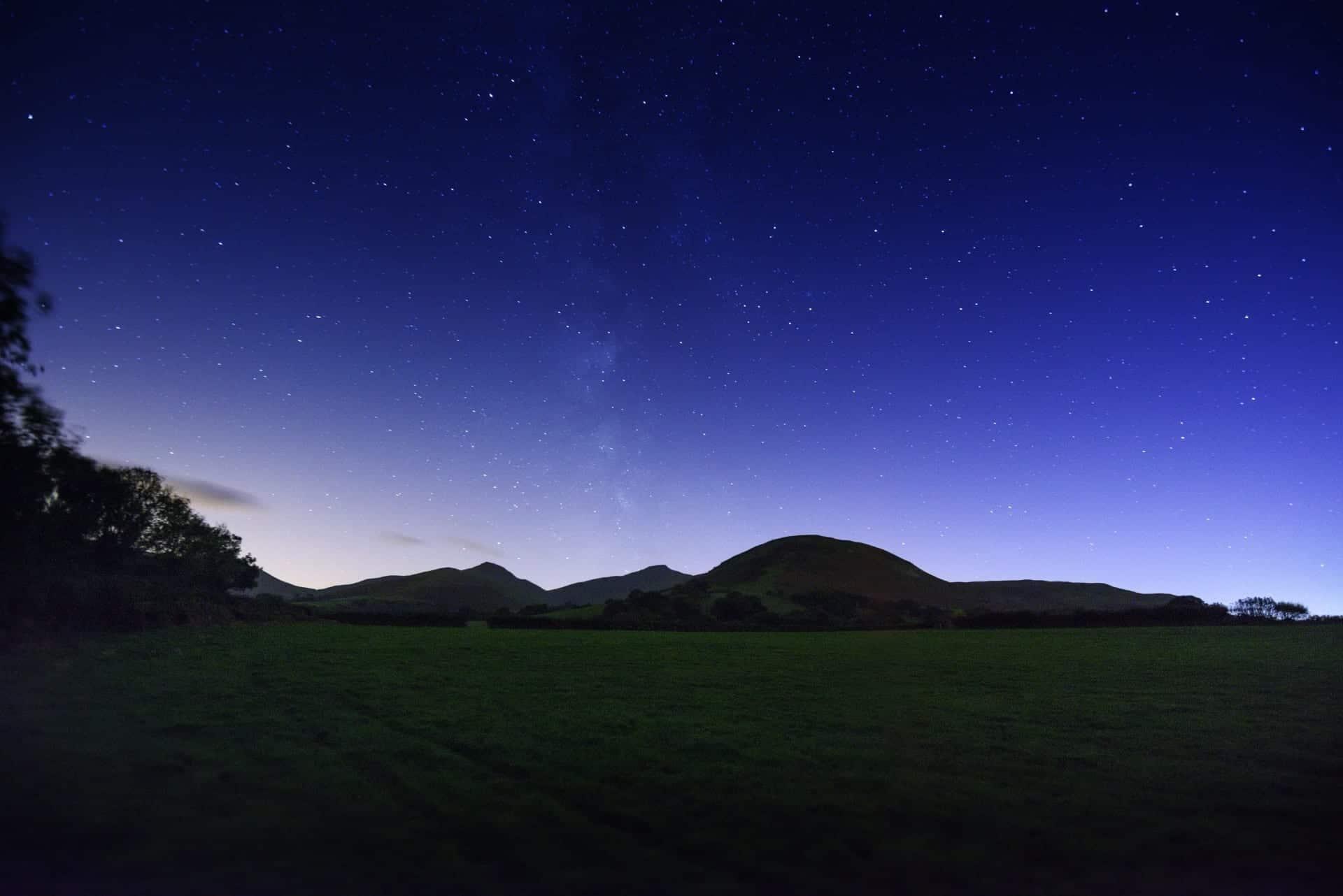 night sky image at night while glamping