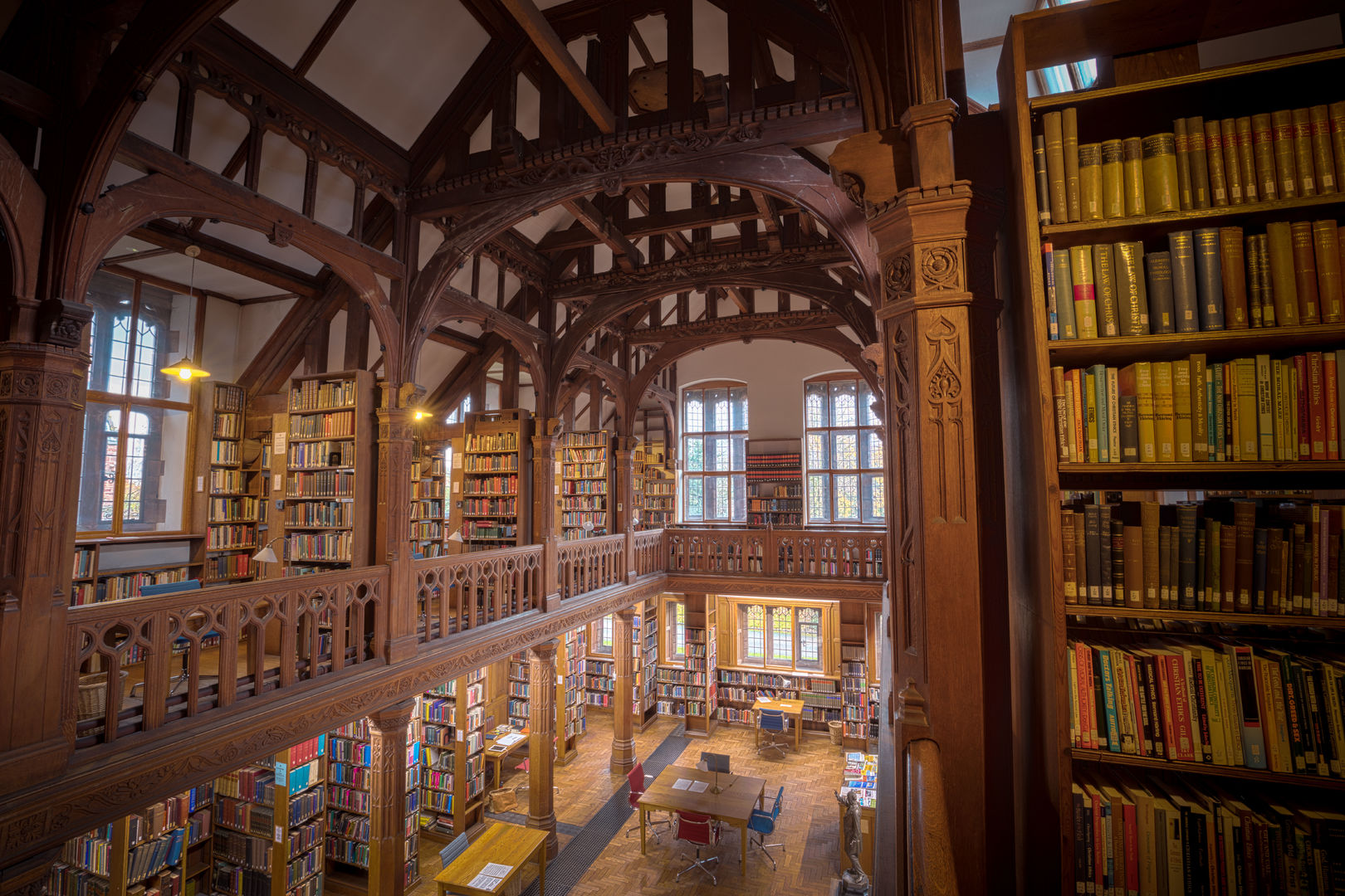 Picture of the inside of a Library in Wales