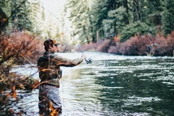 Man coarse fishing
