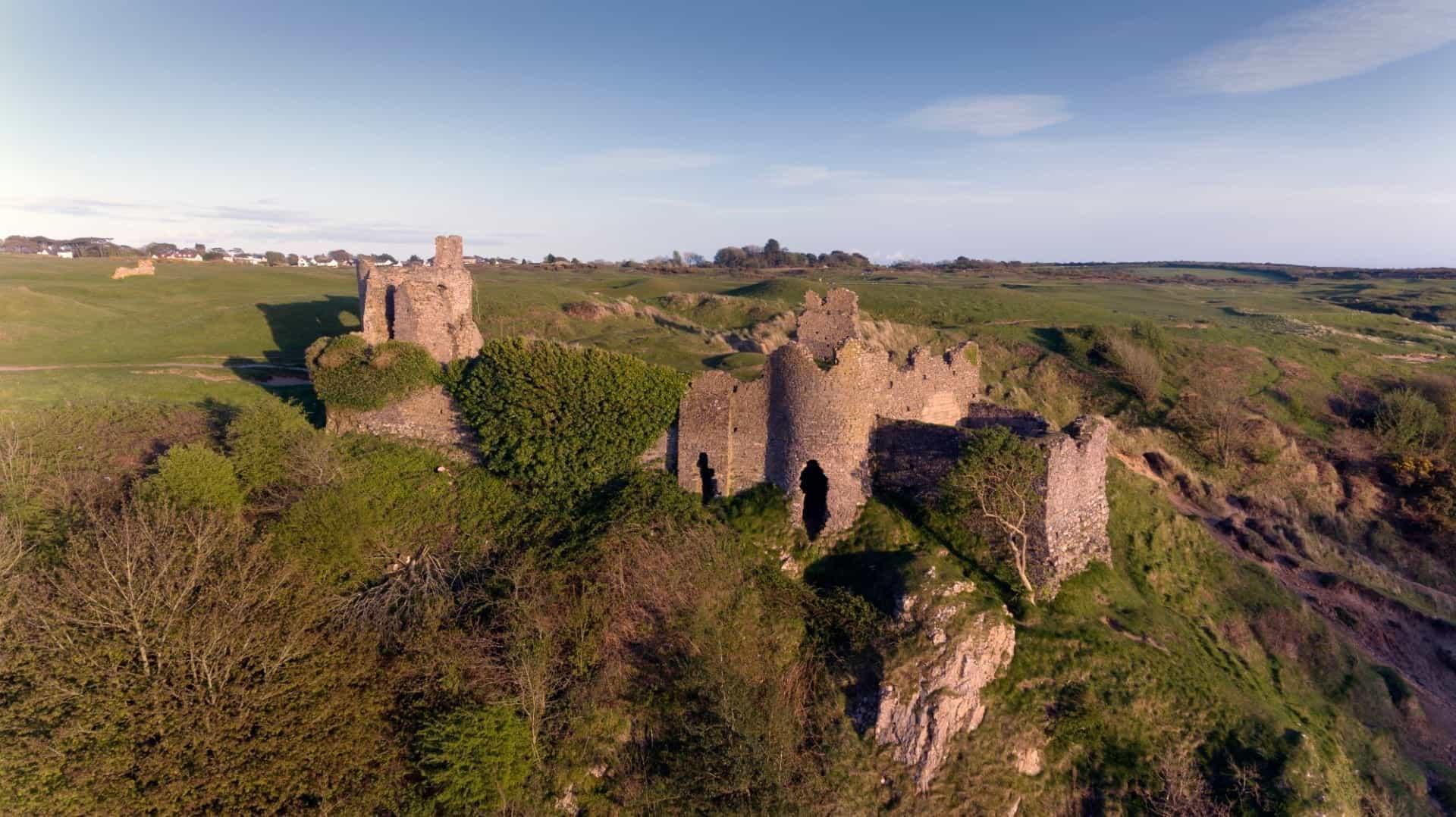 Norman Castle ruins at Pennard Golf Course