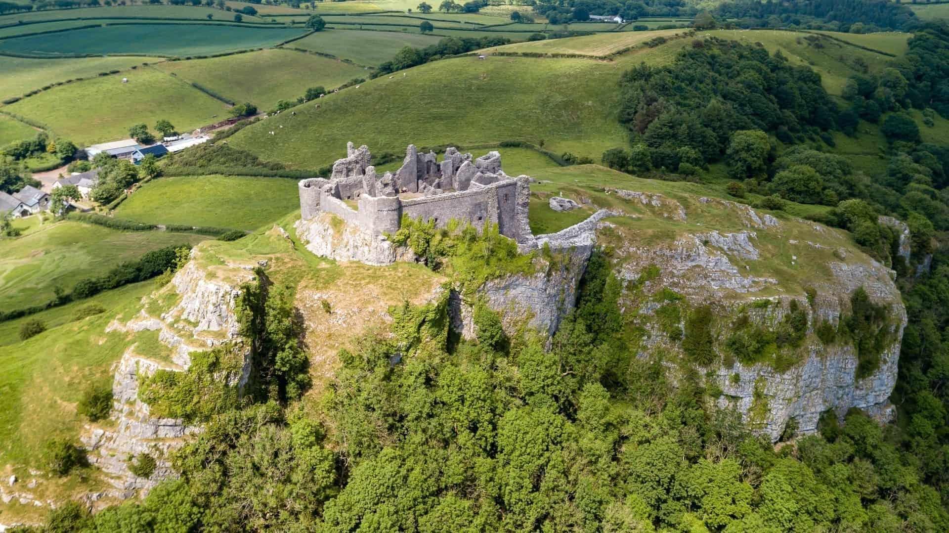 Fun things to do in the Brecon Beacons - Carreg Cennen Castle