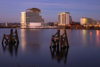 Best Beach Hotels in Wales - View across Cardiff Bay to St David's Hotel and Spa