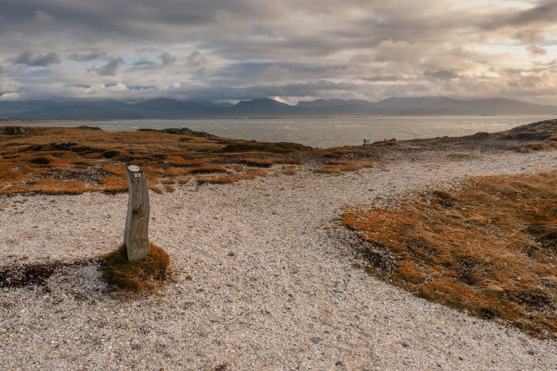 Anglesey walking path along the sea