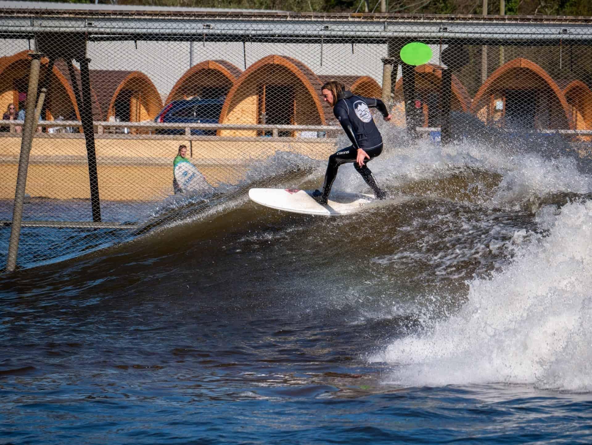 Inland surfing at Surf Snodonia
