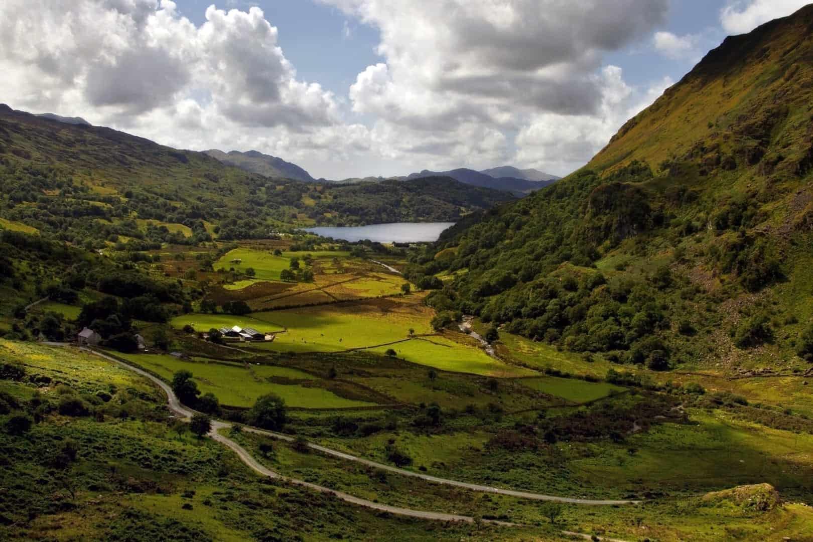 mountains of the Brecon Beacons near Powys