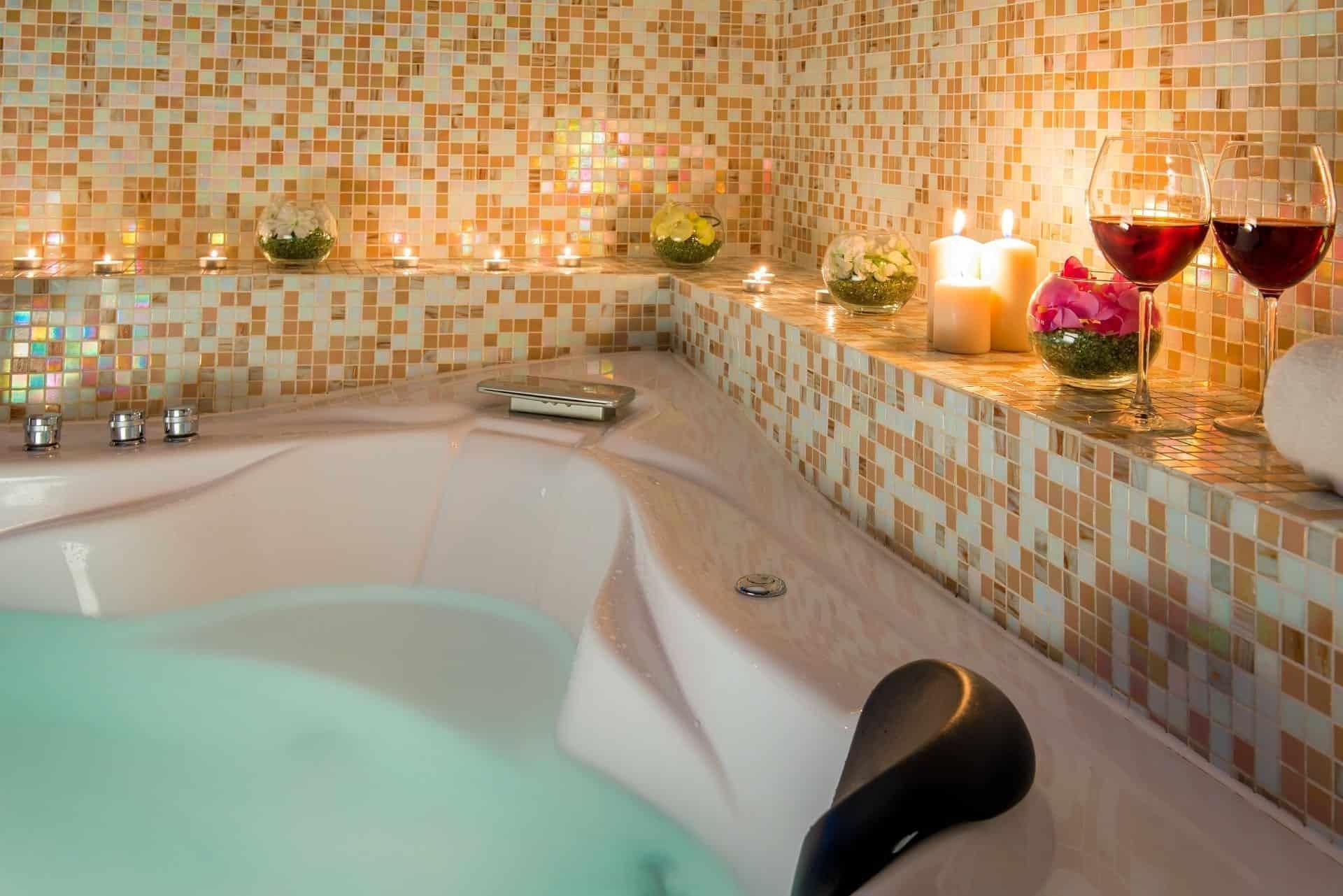 evening romantic bath for loving couples