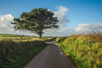 Country Road in Wales